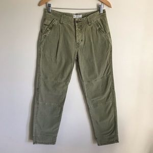 Free People Green Military Pants